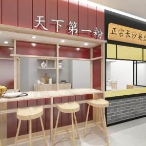 现代商场小吃店3D模型【ID:630985926】