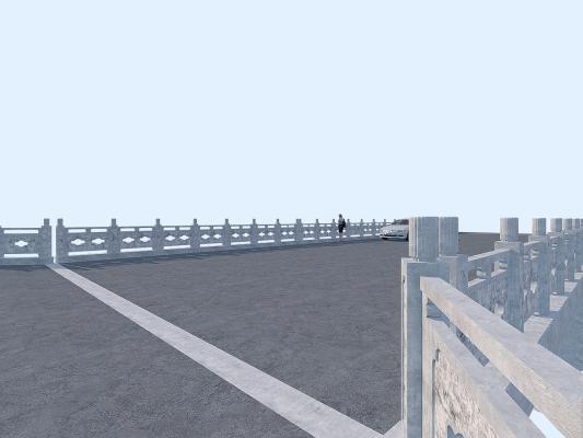 中式古典桥梁3D模型【ID:143746926】