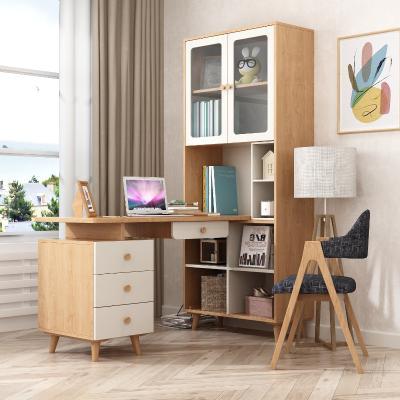 北欧实木书桌 书柜