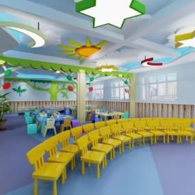 学校幼儿园教室 3D模型【ID:942262656】