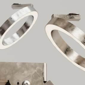 现代金属吸顶灯3D模型【ID:833721039】