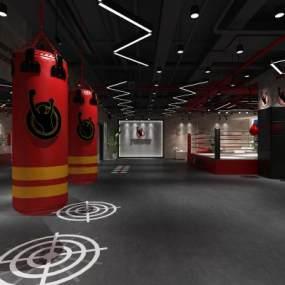 工业风健身房3D模型【ID:746808866】