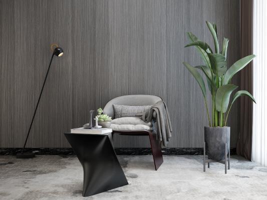 后現代休閑椅3D模型【ID:751155020】