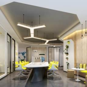 现代办公室3D模型【ID:934670047】
