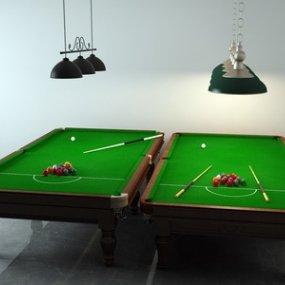 现代桌球3D模型【ID:333747884】