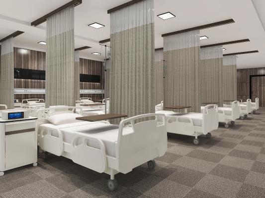 后現代醫院透析室3D模型【ID:946551758】
