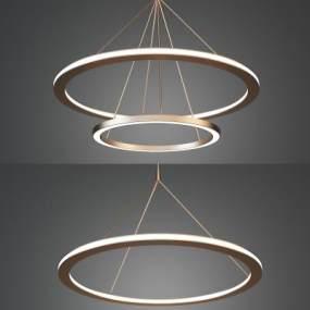 现代金属吊灯3D模型【ID:736028801】