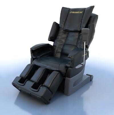 现代按摩椅3D模型【ID:745382713】