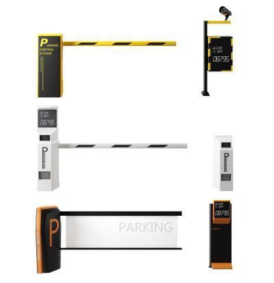 景区小区停车场升降栏杆护栏闸道设备3D模型【ID:443875556】