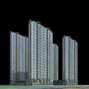 现代高层住宅3D模型【ID:133234732】