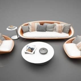现代风格沙发3D模型【ID:650602759】
