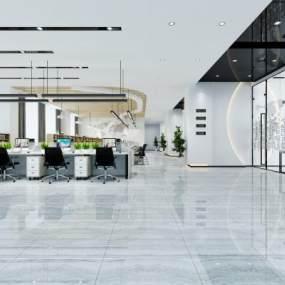 现代办公室3D模型【ID:932162063】