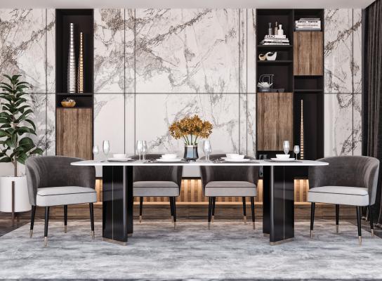 现代餐桌 方形餐桌