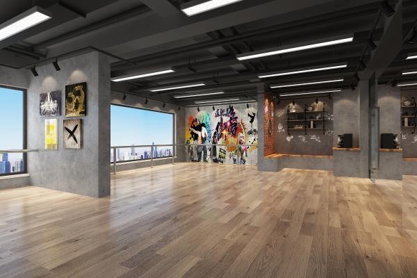 工业风舞蹈室 画室 健身房