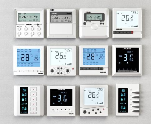 現代空調壁控遙器3D模型【ID:242182722】