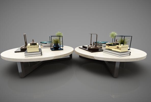 新中式風格茶幾3D模型【ID:645820874】