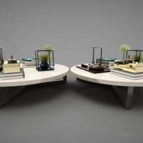 新中式风格茶几3D模型【ID:645820874】