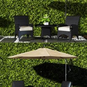 现代休闲桌椅3D模型【ID:832537978】