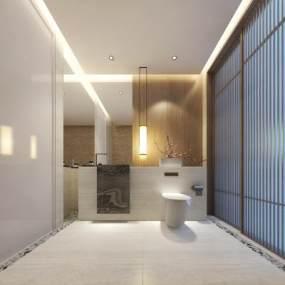 酒店客房卫生间 3D模型【ID:441329102】