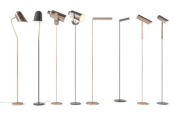 现代金属落地灯组合3D模型【ID:853013235】