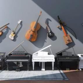 现代钢琴3D模型【ID:335746945】