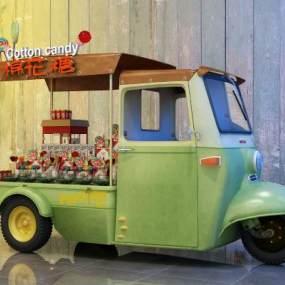 工业风电三轮棉花糖车3D模型【ID:332837628】