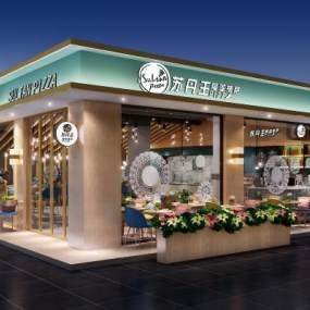 現代甜品店3D模型【ID:634786463】