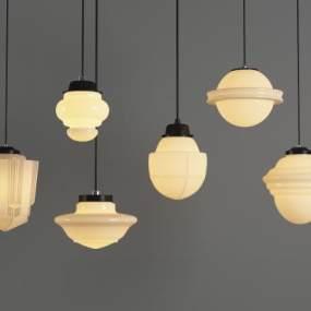现代艺术玻璃球吊灯3D模型【ID:732149843】