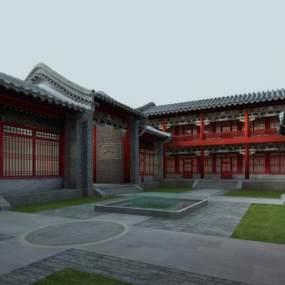 传统中式古建筑3D模型【ID:235774193】