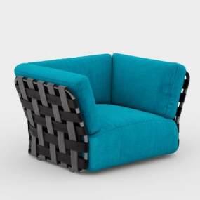 后现代单人沙发3D模型【ID:633198429】