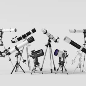 现代望远镜组合3D模型【ID:332105616】