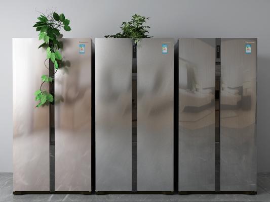 现代双开门冰箱