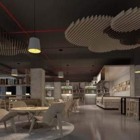 现代咖啡厅3D模型【ID:934743492】