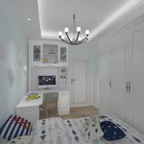 现代卧室3D模型【ID:549267205】