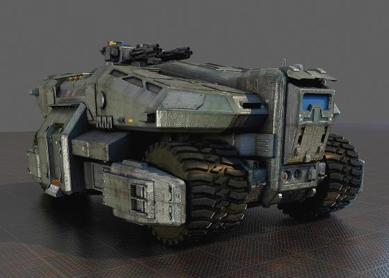 科幻战车3D模型【ID:440629745】