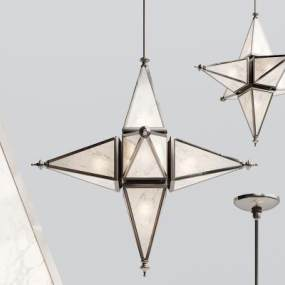现代金属星星吊灯3D模型【ID:733264833】