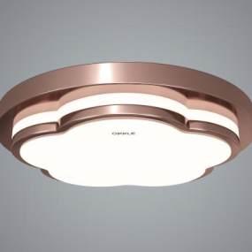 现代创意金属吸顶灯3D模型【ID:845600074】