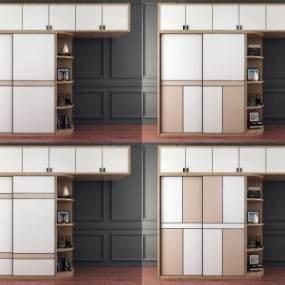 现代移门衣柜组合3D模型【ID:146943466】