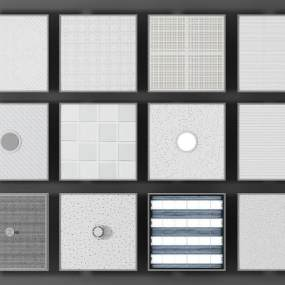 现代硅钙板石膏板模型3D模型【ID:932764031】