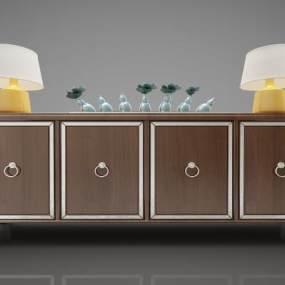 新中式風格裝飾柜3D模型【ID:144592124】