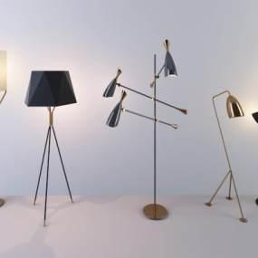 現代落地燈3D模型【ID:834185232】