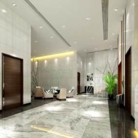 酒店大厅3D模型【ID:744065044】