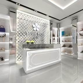 现代风格鞋店3D模型【ID:935403803】