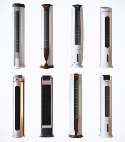 現代客廳立柱式中央空調3D模型【ID:452579310】