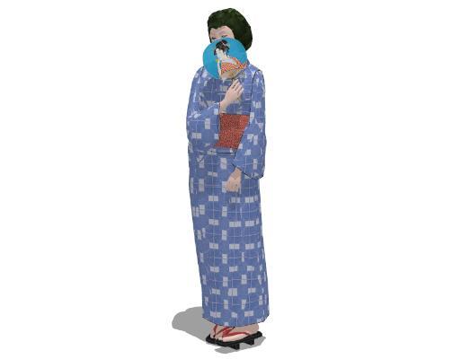 现代日本女人SU模型【ID:151893792】