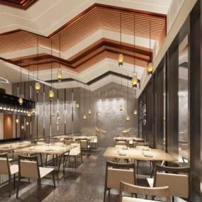 現代西餐廳3D模型【ID:651984226】
