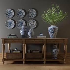 传统中式装饰柜架3D模型【ID:134711148】