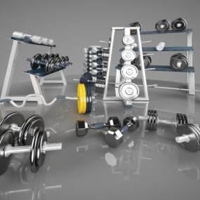 现代体育运动器材3D模型【ID:334057826】