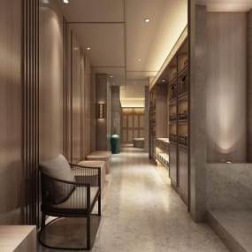 新中式风格足浴会所3D模型【ID:845204200】