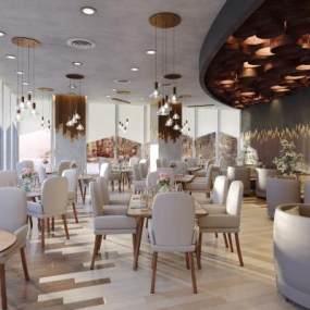 现代餐厅3D模型【ID:650913609】